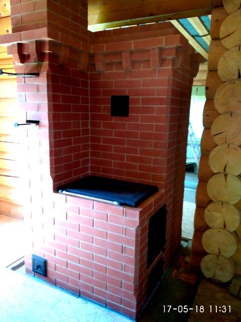 Печь отопительно-варочная из кухни
