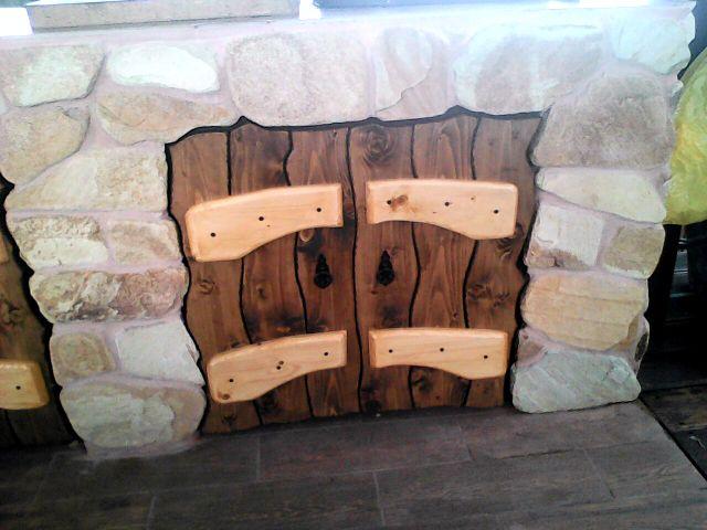 Дверки деревянные для столика барбекю